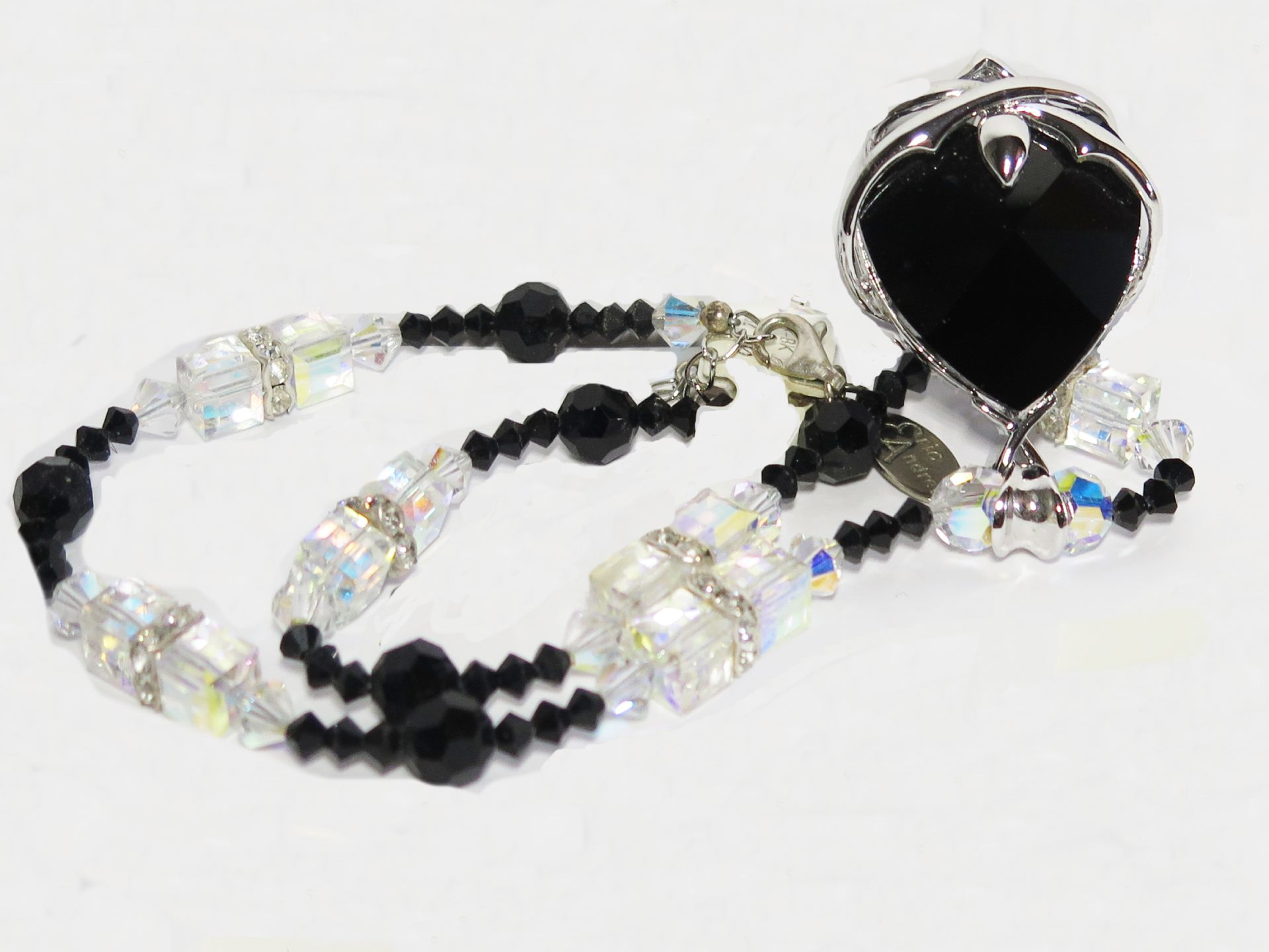 Black Heart Swarovski Element