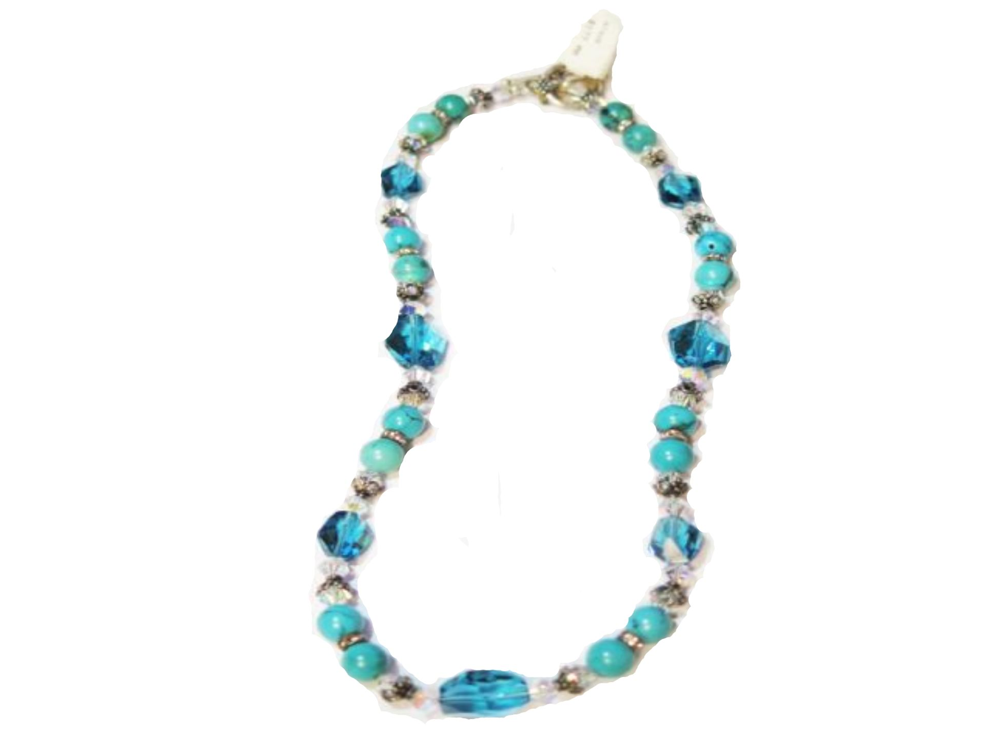 Turquoise and Indocolite Necklace